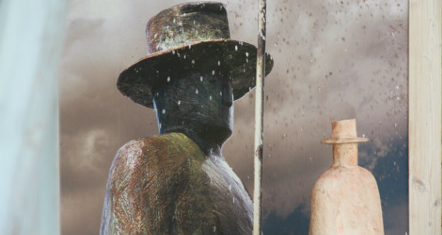 """Immagine dell'opera """"La pluie""""di Folon a Firenze"""